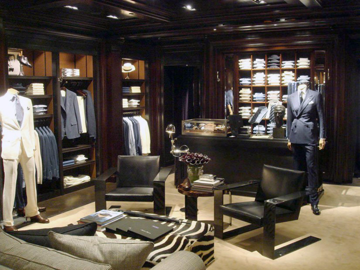 View of a Ralph Lauren store