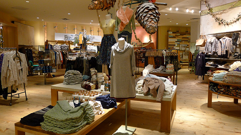 Anthropologie Store layout