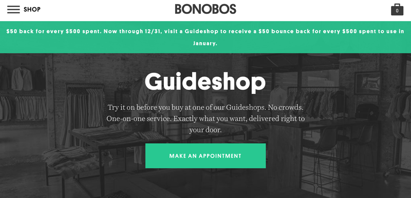 Bonobos guide shop