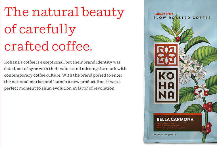 Kohana coffee package